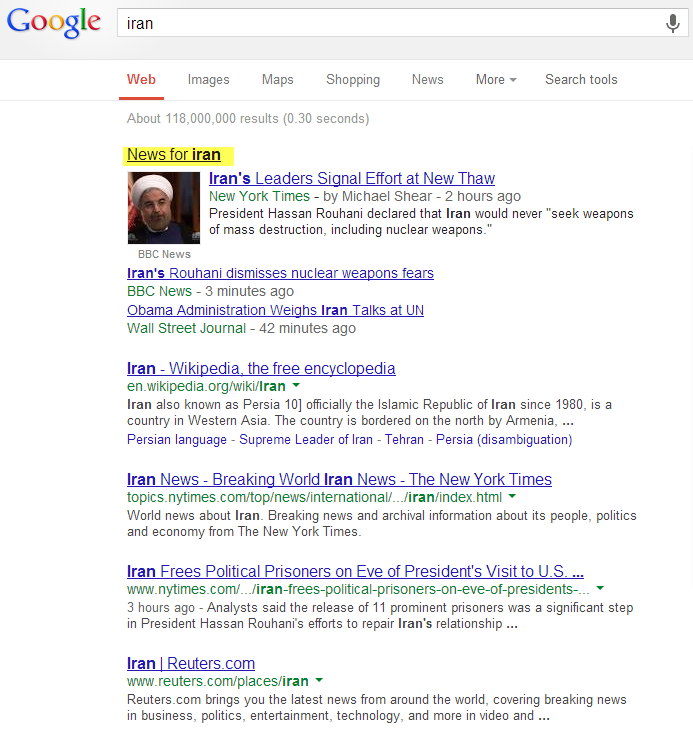 google-serp-with-news-module